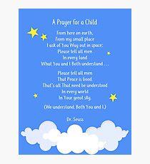 A Prayer for a Child Dr. Seuss Nursery Photographic Print