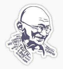 GANDHI Truth and Love Sticker