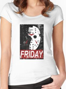 FRIDAY Women's Fitted Scoop T-Shirt