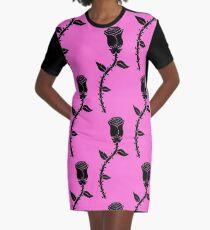 Black Rose Graphic T-Shirt Dress