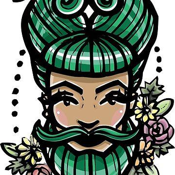 Pin up Bearded Lady. by brogantickner