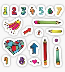 Back to School - fun pattern by Cecca Designs Sticker