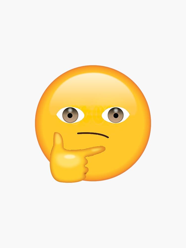 Creepy Thinking Face Secret Emoji   funny internet meme by secretemojis