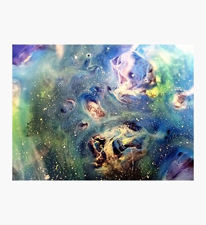 Constellation Dragon Abstract Watercolor Painting Photographic Print