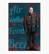 Air, Water, Food, Beer Photographic Print