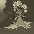 Treefolk and kitten by hildeoosterhuis