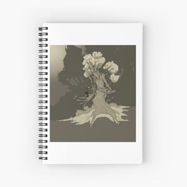 Treefolk and kitten Spiral Notebook