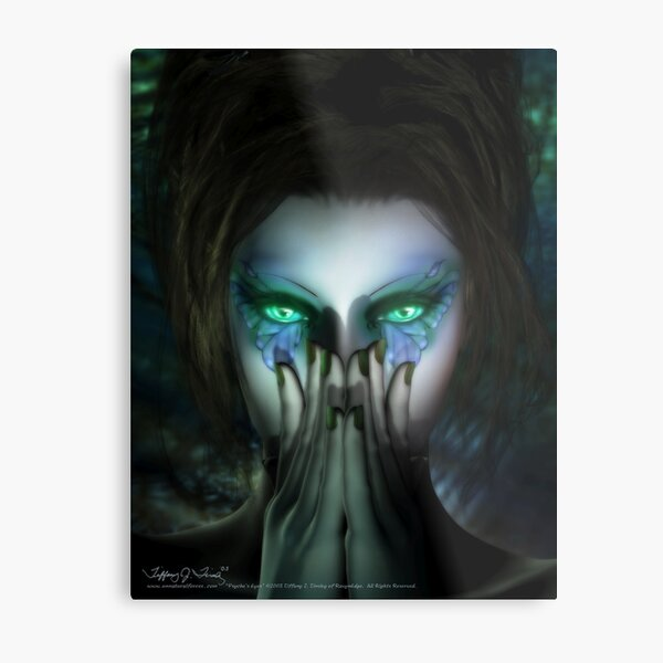 Psyche's Eyes Metal Print