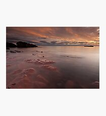 red rock, auchmithie Photographic Print