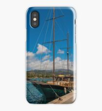 Luxury Yacht in Andratx Harbour, Majorca iPhone Case/Skin