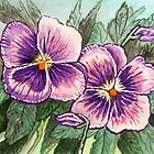 Pansy Painting by WildestArt