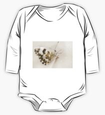 cute butterfly on yellow cosmos flower on nature background One Piece - Long Sleeve