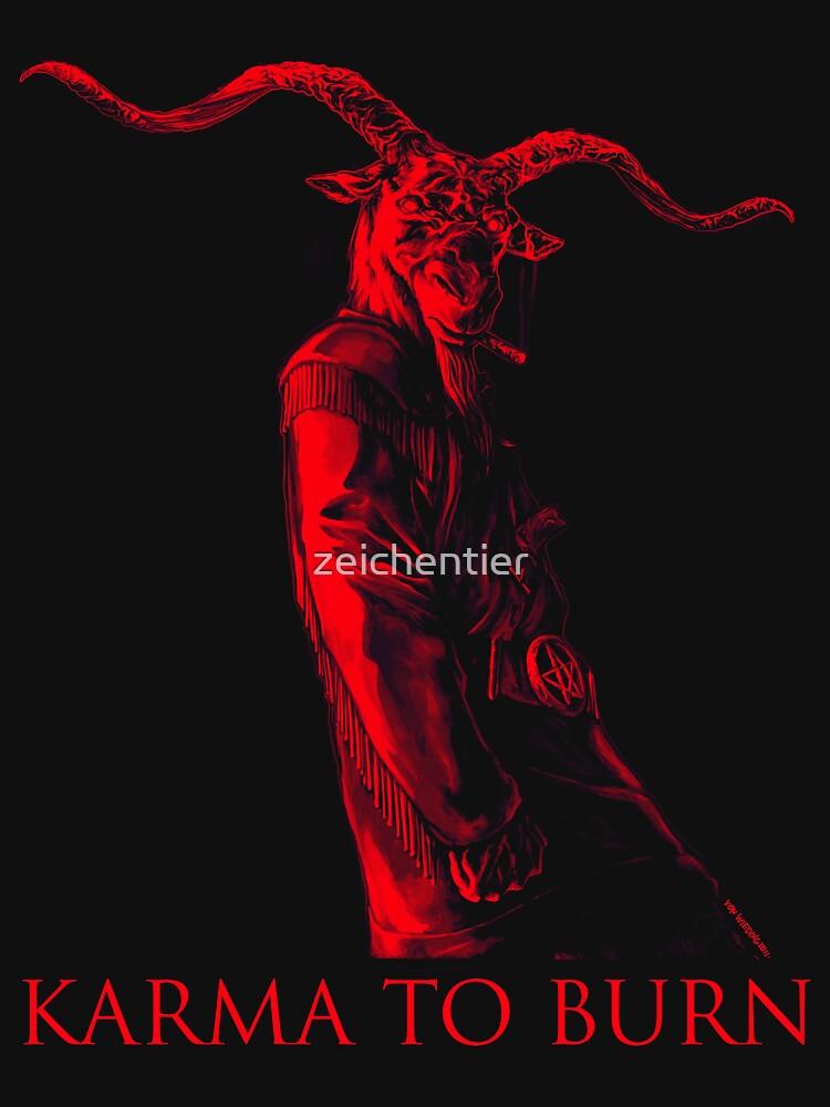 Karma To Burn - Red Goataneer by zeichentier