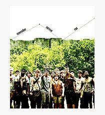 Remember Survive Run Photographic Print