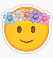 Smiling Hippie Secret Emoji   funny internet meme Sticker