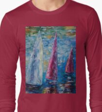 Sails To-Night by Lena Owens T-Shirt