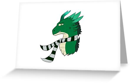 Green Dragon with scarf by Hoplights