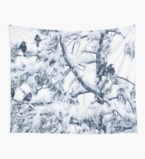 Crows In Snow Wall Tapestry