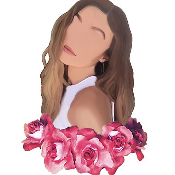 Gigi Hadid Minimalist Portrait w/ Flower Crown by artmoonist