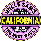 SURFING CALIFORNIA THE BEST WAVES SURF SURFER UNCLE SAM'S WAX 2 by MyHandmadeSigns