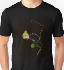 Cloudless Sulphur Butterfly And Morning Glory T-Shirt