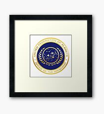 United Federation of Planets Presidential Seal Framed Print