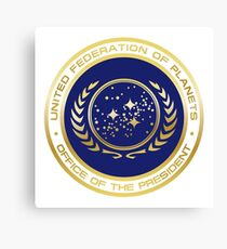 United Federation of Planets Presidential Seal Canvas Print