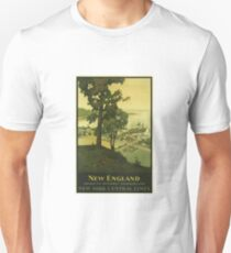 Vintage Travel Poster – New England	 T-Shirt