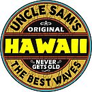 SURFING HAWAII THE BEST WAVES SURF SURFER UNCLE SAM'S WAX by MyHandmadeSigns