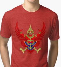 Coat of Arms Thailand Tri-blend T-Shirt