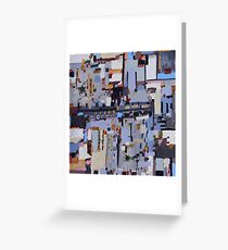 Gridlock, abstract oil on canvas Greeting Card