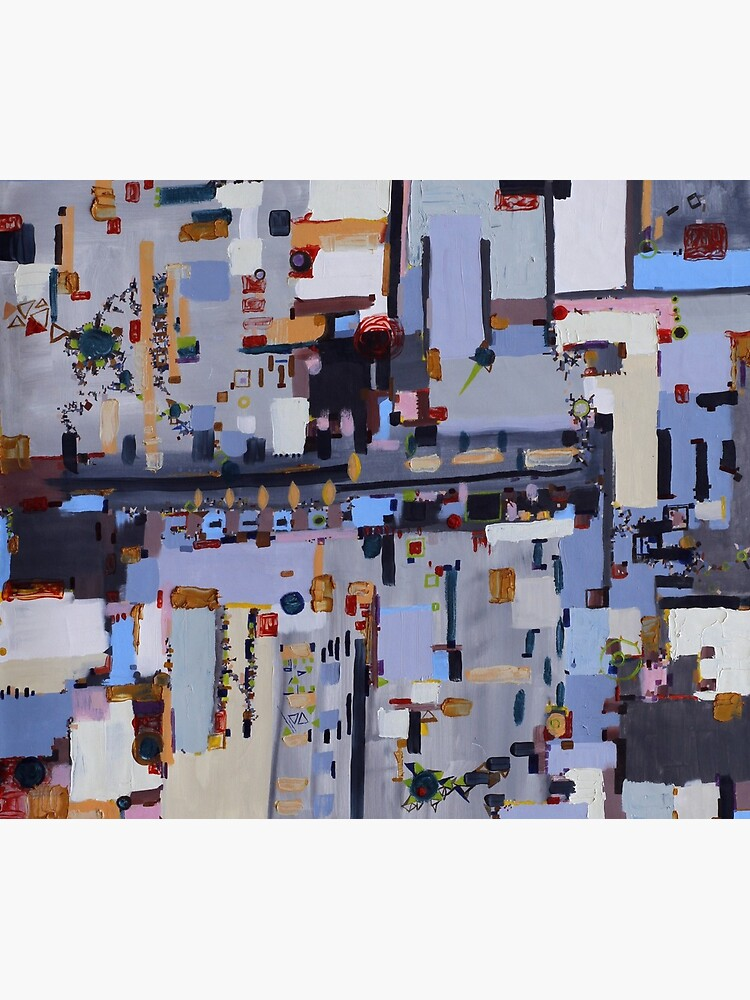 Gridlock, abstract oil on canvas by rvalluzzi