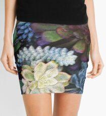Colorful succulent garden Mini Skirt