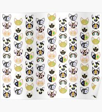 Adorable Kitty Pattern Poster