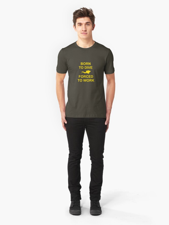 Alternate view of Born To Dive Slim Fit T-Shirt