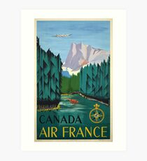 Vintage Travel Poster – Canada by Air France Art Print