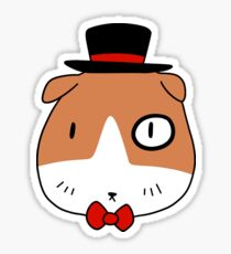 Fancy Guinea Pig Face Sticker