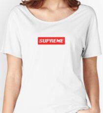 """Supreme Box Logo - """"Pixel Supreme"""" Women's Relaxed Fit T-Shirt"""