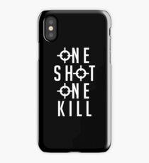 Widowmaker - One Shot One Kill (white) iPhone Case/Skin