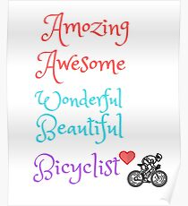 T-shirt Bicyclist love Poster