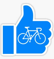 Thumbs Up Cycling Sticker
