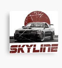 Nissan Skyline R34 Metal Print