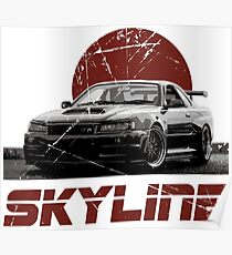 Nissan Skyline R34 Poster