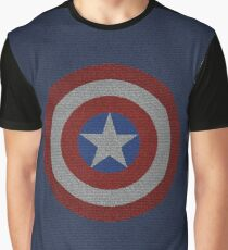 Captain America Shield Word Art Graphic T-Shirt