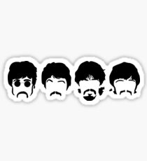 The Beatles Silhouette Sticker