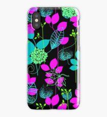 Foliage Fuchsia & Teal [iPhone / iPod Case and Print] iPhone Case/Skin