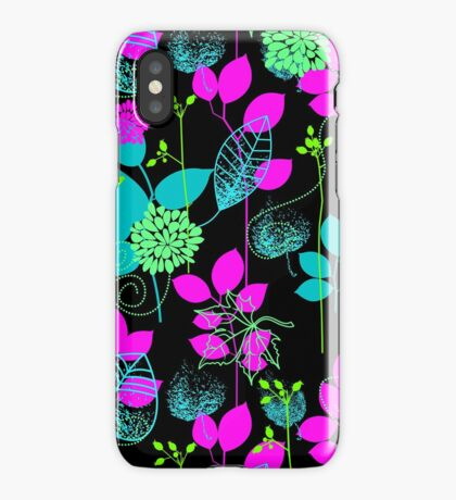 Foliage Fuchsia & Teal [iPhone / iPod Case and Print] iPhone Case/Skin