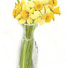 Daffodil Bouquet, Yellow Flowers, Birds and Berry Studio by birdsandberry