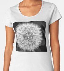 Black And White Dandelion Photo Women's Premium T-Shirt