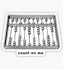 Count On Me Sticker